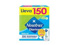 PROTECCIÓN DIARIOS NOSOTRAS 150 UDS + ES.IN. 145 ML