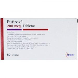 EUTIROX 200 MCG 50 TABLETAS