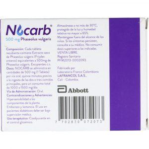 NOCARB 500 MG 60 TABLETAS