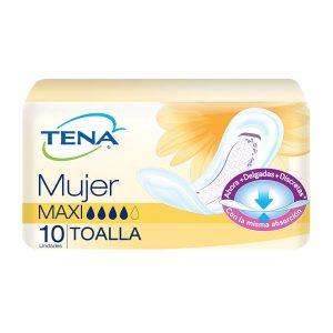 TENA MUJER MAXI TOALLAS X 10 UNIDADES