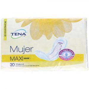 TENA MUJER MAXI TOALLAS X 30 UNIDADES