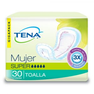 TENA MUJER SUPER TOALLAS X 30 UNIDADES